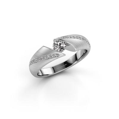 Foto van Ring Hojalien 2 585 witgoud diamant 0.37 crt