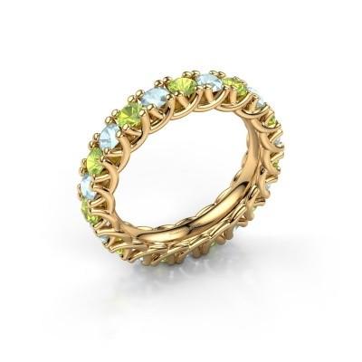 Foto van Ring Fenna 375 goud peridoot 3 mm