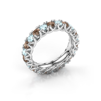 Ring Fenna 925 zilver bruine diamant 1.10 crt