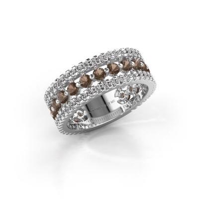 Verlovingsring Elizbeth 2 925 zilver rookkwarts 2.4 mm