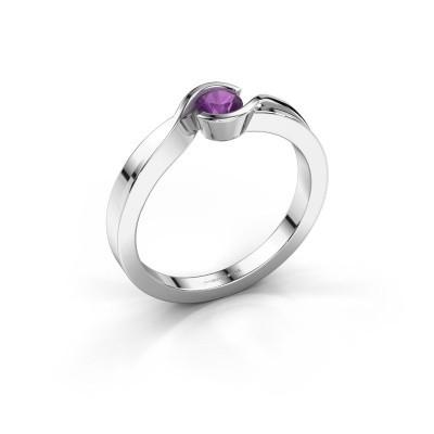 Foto van Ring Lola 925 zilver amethist 4 mm