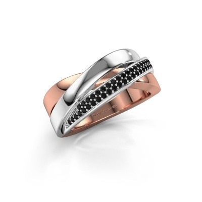 Foto van Ring Katherina 585 rosé goud zwarte diamant 0.306 crt