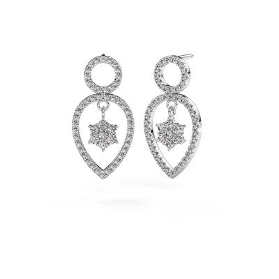 Picture of Drop earrings Lauralee 2 585 white gold diamond 1.110 crt