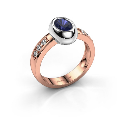 Ring Charlotte Oval 585 rose gold sapphire 7x5 mm