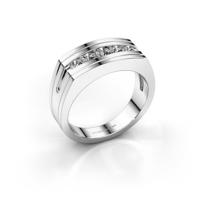 Foto van Heren ring Huub 585 witgoud zirkonia 3.7 mm