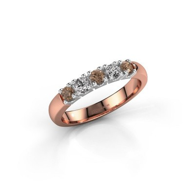 Picture of Ring Rianne 5 585 rose gold brown diamond 0.40 crt