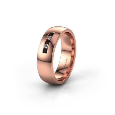 Alliance WH0107L26BP 375 or rose diamant noir ±6x2 mm