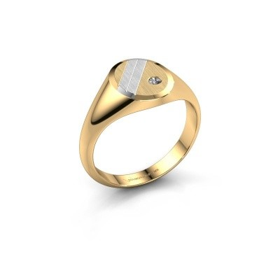 Foto van Pinkring Wesley 1 585 goud lab-grown diamant 0.03 crt