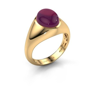 Ring Zaza 375 goud rhodoliet 10x8 mm