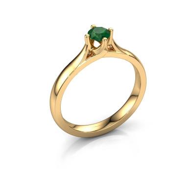Verlovingsring Eva 585 goud smaragd 4.2 mm