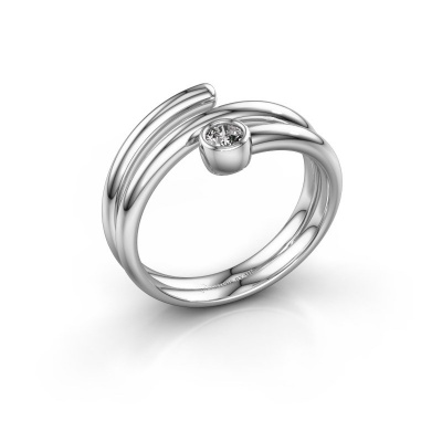 Ring Jenna 950 platina diamant 0.10 crt