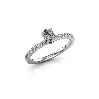 Picture of Engagement ring Crystal OVL 2 925 silver lab-grown diamond 0.680 crt