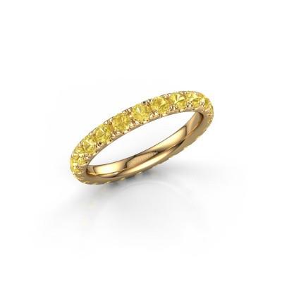 Foto van Ring Jackie 2.5 375 goud gele saffier 2.5 mm