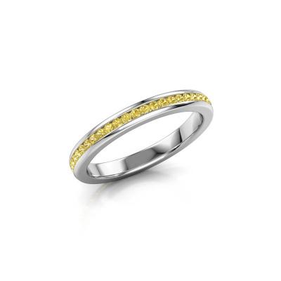 Aanschuifring Lura 1 925 zilver gele saffier 1.3 mm
