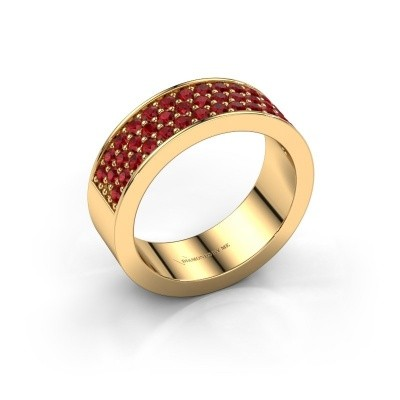 Ring Lindsey 6 375 gold ruby 1.7 mm