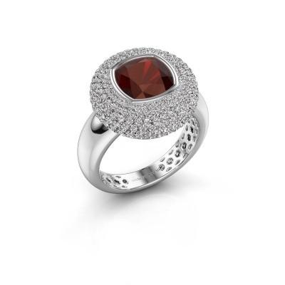 Picture of Ring Keshia 925 silver garnet 8 mm