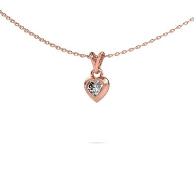 Picture of Pendant Charlotte Heart 375 rose gold diamond 0.25 crt