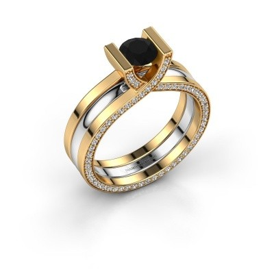 Bild von Ring Kenisha 585 Gold Schwarz Diamant 1.18 crt