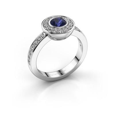 Foto van Ring Ivy 585 witgoud saffier 5 mm