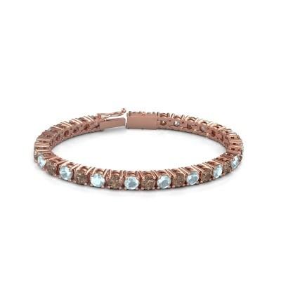 Tennisarmband Ming 375 rosé goud bruine diamant 17.00 crt