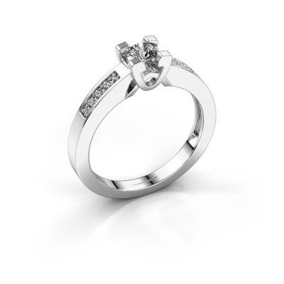Verlovingsring Nina 2 925 zilver diamant 0.33 crt