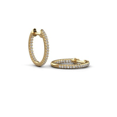 Picture of Hoop earrings Jackie 12.5 mm B 375 gold zirconia 1 mm