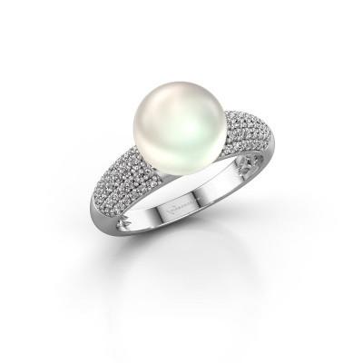 Foto van Ring Anisa 925 zilver witte parel 9 mm