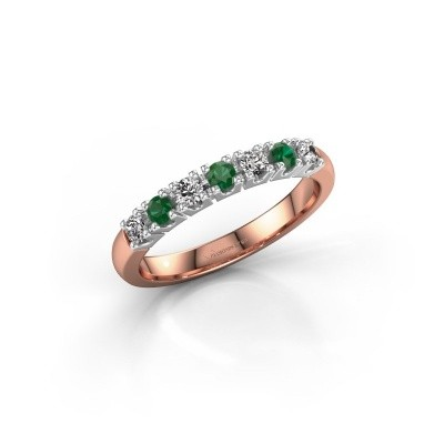 Engagement ring Rianne 7 585 rose gold emerald 2.4 mm