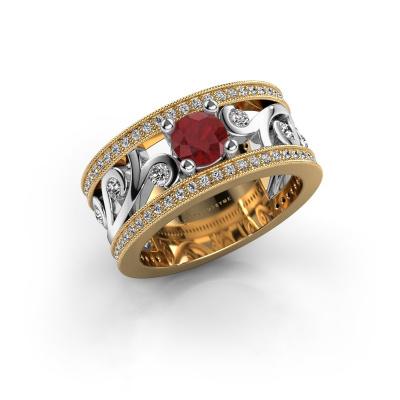 Foto van Ring Sanne 585 goud robijn 5 mm