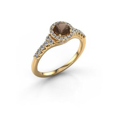 Foto van Verlovingsring Loralee 375 goud rookkwarts 5 mm