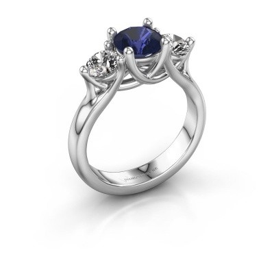 Engagement ring Esila 925 silver sapphire 6.5 mm