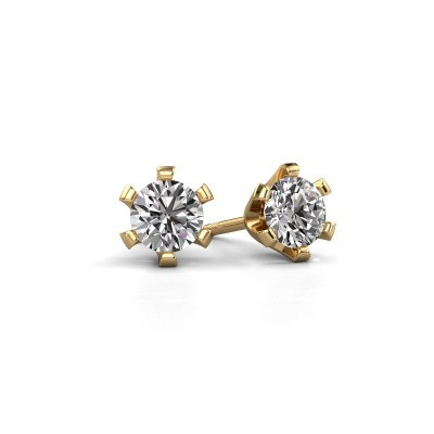 Picture of Stud earrings Shana 375 gold diamond 0.40 crt