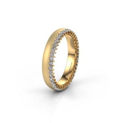Wedding ring WH2138L24B 375 gold zirconia ±4x2 mm