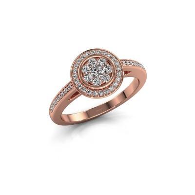 Aanzoeksring Aida 375 rosé goud diamant 0.36 crt