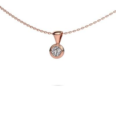 Foto van Ketting Lieke 375 rosé goud diamant 0.30 crt