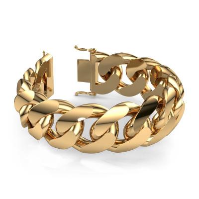Cuban link armband ±25 mm 585 goud