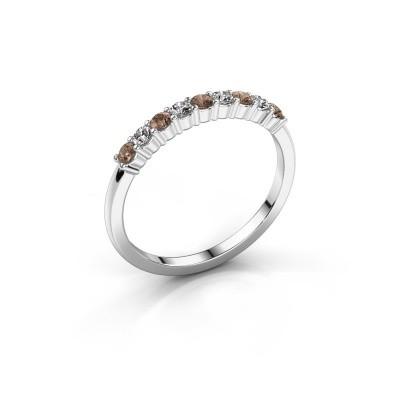 Foto van Verlovingsring Yasmin 9 950 platina bruine diamant 0.495 crt