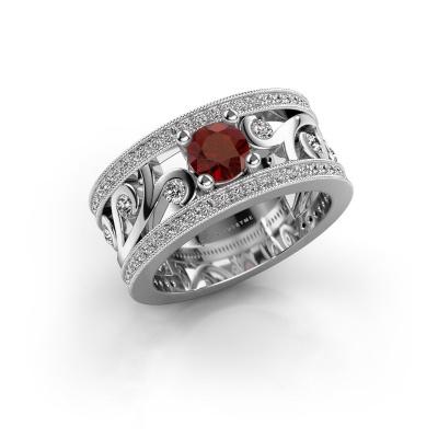 Bild von Ring Sanne 925 Silber Granat 5 mm