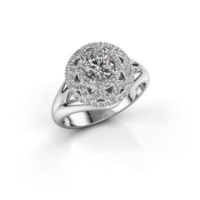 Ring Leonora 585 white gold zirconia 5 mm