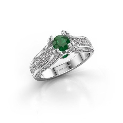 Picture of Engagement ring Jeanne 2 585 white gold emerald 5 mm