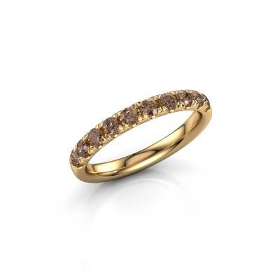 Vorsteckring Jackie Half 375 Gold Braun Diamant 0.55 crt