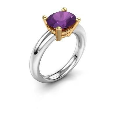 Ring Janiece 585 white gold amethyst 10x8 mm