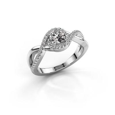 Foto van Verlovingsring Melody 585 witgoud diamant 0.735 crt
