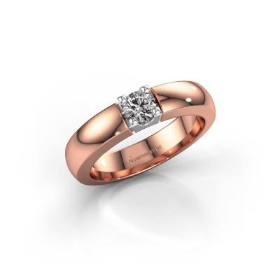 Foto van Verlovingsring Rianne 1 585 rosé goud diamant 0.30 crt