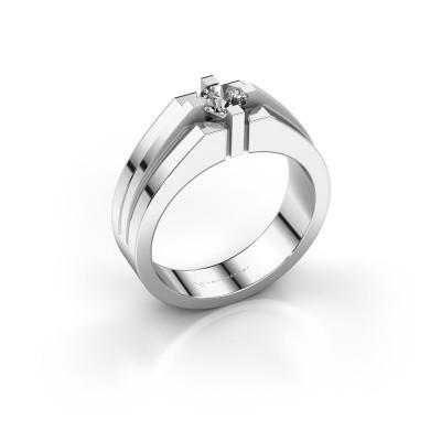 Foto van Heren ring Kiro 925 zilver zirkonia 5 mm