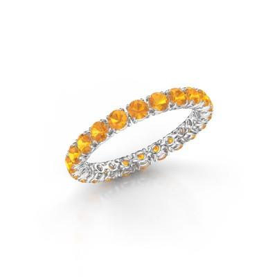 Foto van Ring Vivienne 2.7 950 platina citrien 2.7 mm