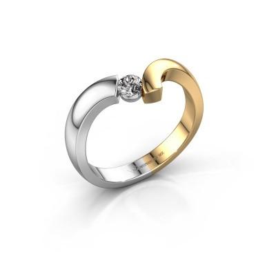 Foto van Ring Arda 585 witgoud diamant 0.15 crt