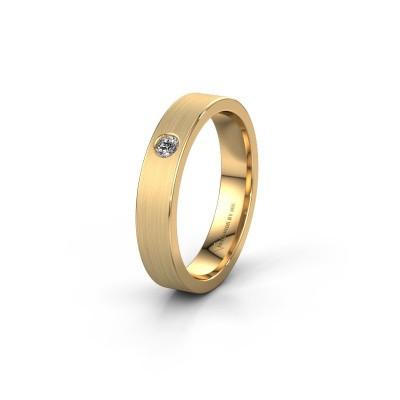 Foto van Trouwring WH0101L14AM 585 goud diamant ±4x1.7 mm