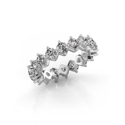 Photo de Bague superposable Janie 3.4mm 585 or blanc diamant synthétique 3.00 crt