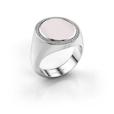 Signet ring Adam 5 585 white gold red sardonyx 15x13 mm